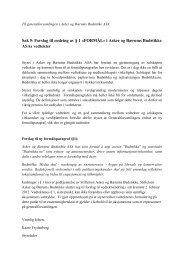 Sak 5: Forslag til endring av § 1 «FORMÅL» i Asker og ... - Budstikka