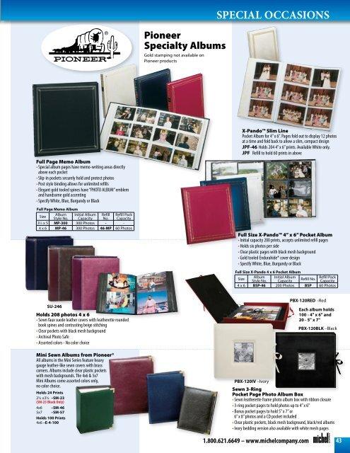 Special Occasion Albums Michel Company