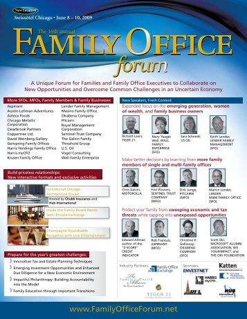 The 16th Annual IIF Family Office Forum - Handler Thayer, LLP