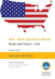 Work and Travel - USA - UCSC International