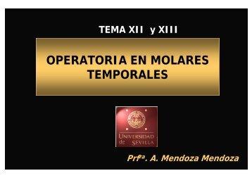OPERATORIA EN MOLARES TEMPORALES