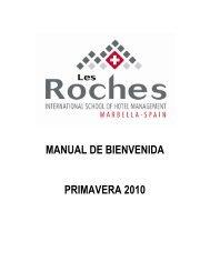 manual de bienvenida primavera 2010 - Les Roches International ...