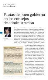 Pautas de buen gobierno en los consejos de administración