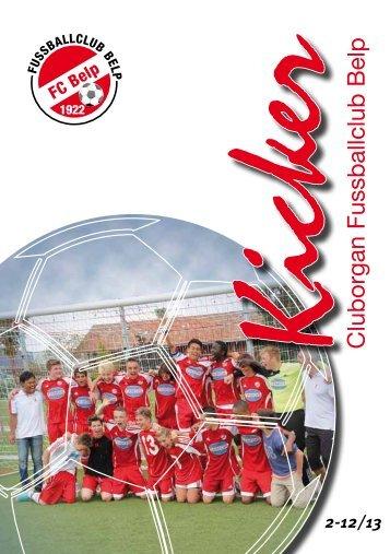 Cluborgan Kicker, 2-12/13 - FC Belp