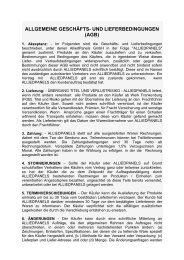 ALLGEMEINE GESCHÄFTS- UND LIEFERBEDINGUNGEN (AGB)