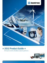 2012 Product Guide « - Kontron