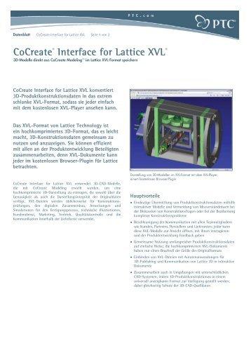 CoCreate® Interface for Lattice XVL® - Inneo