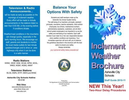 ACS Inclement Weather Brochure - Asheville City Schools