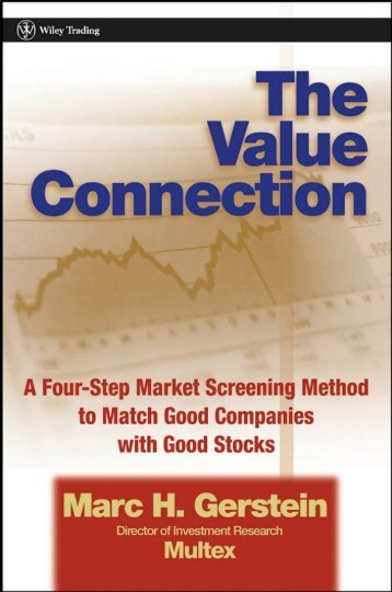 The Value Connection : A Four-step Market Screening Method to ...