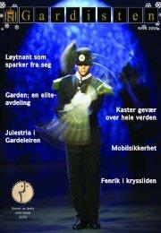 Julestria i Gardeleiren Kaster gevær over hele verden ...