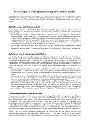 Erläuterungen zur Studiengebührensatzung der Universität Bielefeld