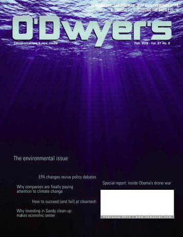 Feb. '13 Environmental PR & PA Magazine (PDF) - Odwyerpr.com