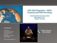 EPA GHG Regulation: NSPS Proposal and PSD Permitting