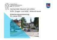 Präsentation Gemeinde Hausen - Gemeinde Hausen am Albis