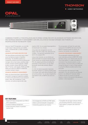 IP ENCAPSULATOR - Thomson Video Networks