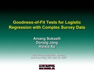 Goodness-of-Fit Tests for Logistic Regression with Complex Survey ...