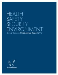 HEALTH SAFETY SECURITY ENVIRONMENT - Brewer Science
