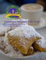 Concurrent Sessions C101–C120 - COABE