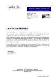 La directive INSPIRE - Atec/ITS France