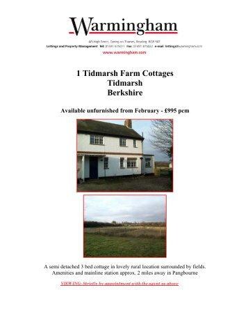 1 Tidmarsh Farm Cottages Tidmarsh Berkshire - Warmingham