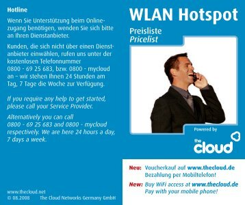 WLAN Hotspot - IMMO & FINANZ