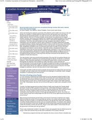 CAOT - Canadian Association of Occupational Therapists - otno...