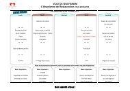 menus du 4 au 17 mars - Wolfisheim