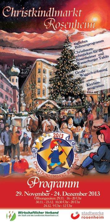 Programmheft des Rosenheimer Christkindlmarktes 2013 zum ...