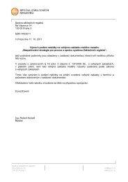 Výzva a zadávací dokumentace - Správa základních registrů