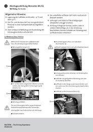 Allgemeine Hinweise: Montageanleitung Mercedes ML/GL W/X164 ...