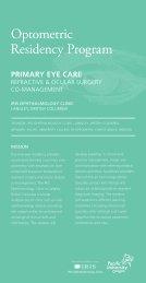 Optometric Residency Program - Pacific University