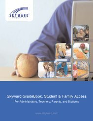 Skyward GradeBook, Student & Family Access