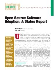Open source software adoption: a status report - IEEE Software