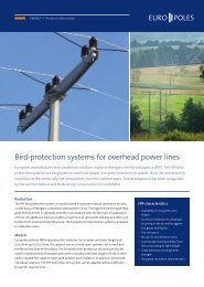 Product information bird protection - Europoles