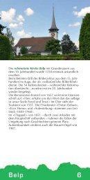 Die reformierte Kirche Belp mit Grundmauern aus dem 10 ...