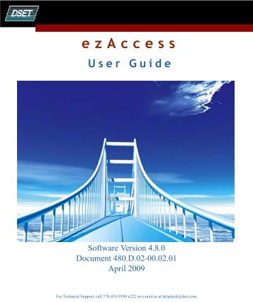 Download the ezAccess ® User Guide - Windstream Business ...