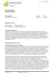 Styresak 19-2013 Årlig melding 2012 - Nordlandssykehuset