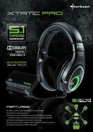 Cuffie 5.1 canali + Dolby® Digital Sound Control Unit ... - Sharkoon