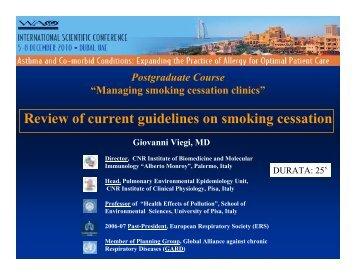 managing smoking cessation-Viegi - World Allergy Organization