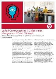 Unified Communications & Collaboration-Lösungen von HP ... - Inneo