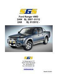 Ford Ranger 4WD 2AW Bj. 2007- 01/12 2AB Bj. 01/2012 - - SGS