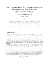 Improved Bounds for Performability Evaluation Algorithms using ...