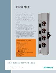 Power Mod Residential Meter Stacks Features - Siemens