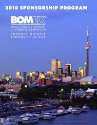 2010 sponsorship program - BOMA Canada