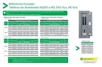 Tableros de Alumbrado NQOD a NQ 240 Vca ... - Schneider Electric