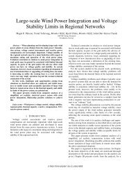 Large-Scale Wind Power Integration and Voltage Stability ... - SINTEF