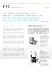 Creo™ Elements/Direct Modeling™: Warum Entwickler Creo - Inneo
