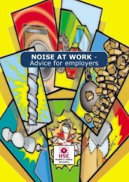 INDG362 - Noise at work - Advice for employers