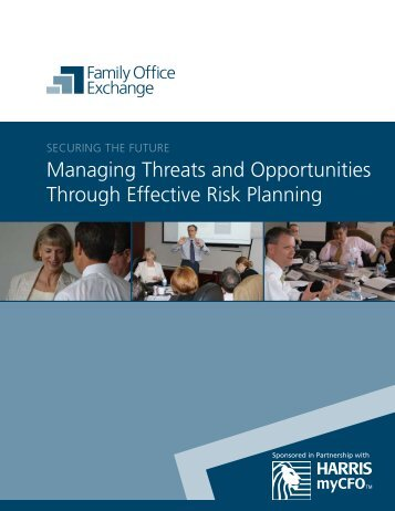 Managing threats and Opportunities through effective risk ... - myCFO