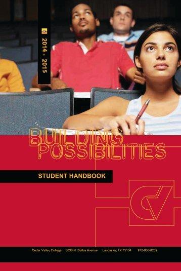 Student Handbook - Cedar Valley College